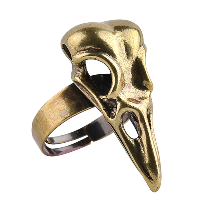 Bird Skull Crow Head Ring