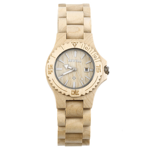 Maple Wood Women's Analog Wooden Watch