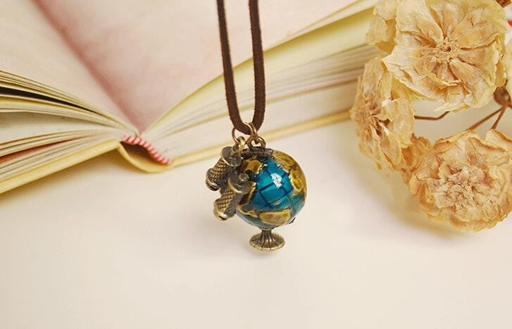 Globe & Telescope Pendant Necklace
