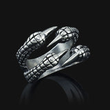 Eagle Claw Gothic Stainless Steel Ring