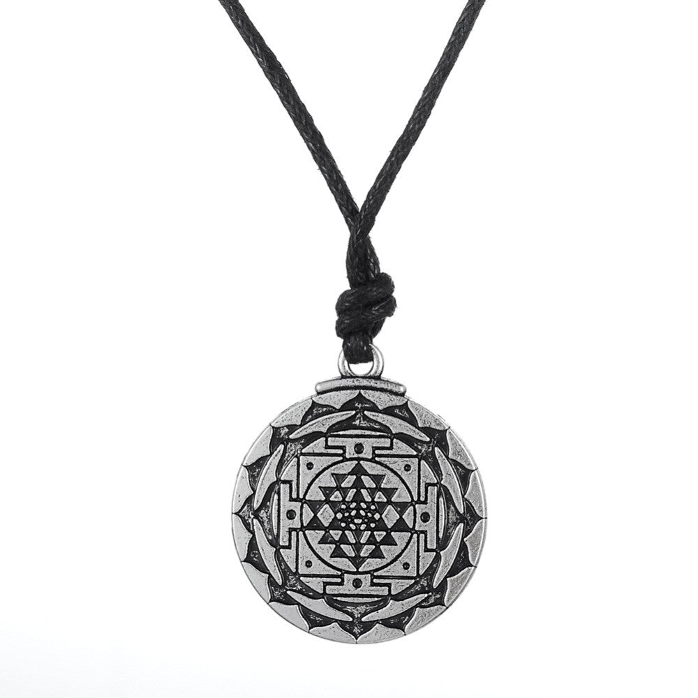 Sri Yantra for Growth and Healing Amulet Wealth Goddess Pendant Necklace
