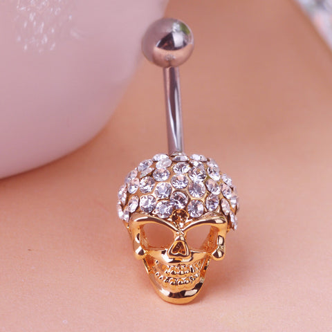 Skull Rock Piercing (Belly Button Ring)