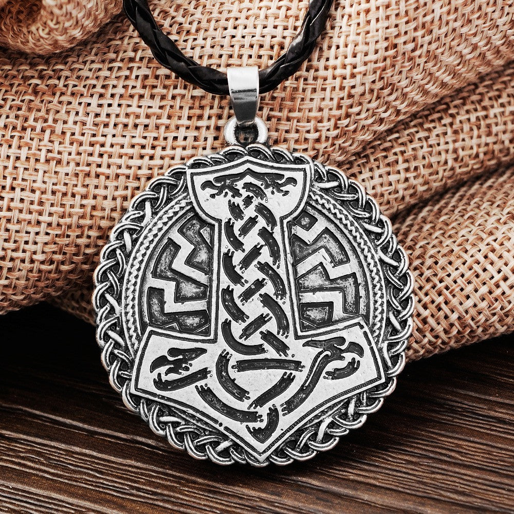 Norse Vikings Thor's Hammer Knot and Sllavics Talisman Amulet Necklace