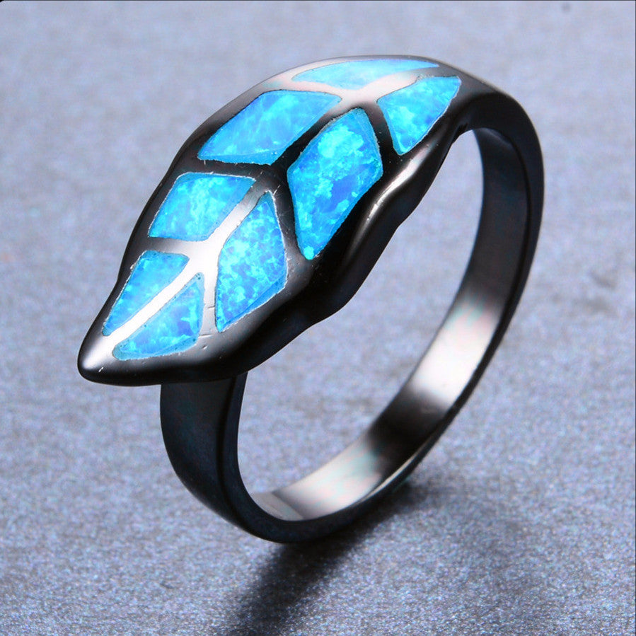 JUNXIN Leaf Ring