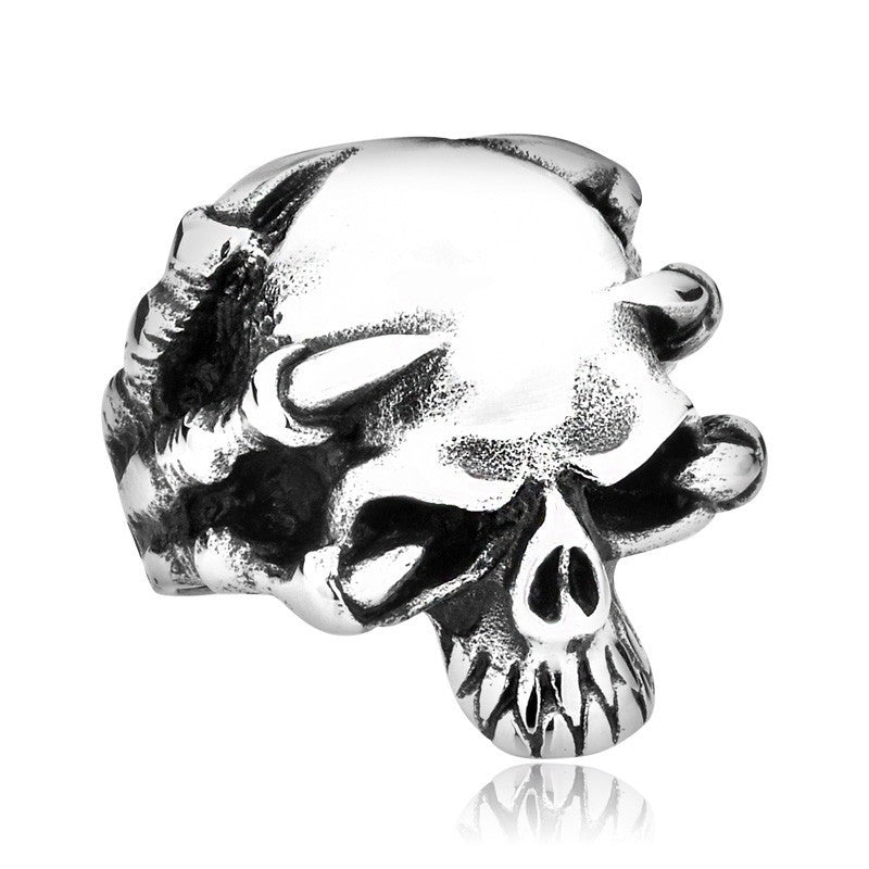 Claw Skull Skeleton Ring in Stainless Steel