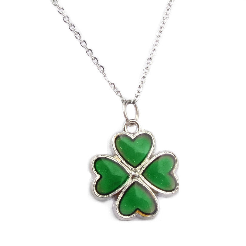 Four leaf clover pendant necklace bold and honest four leaf clover pendant necklace aloadofball Image collections