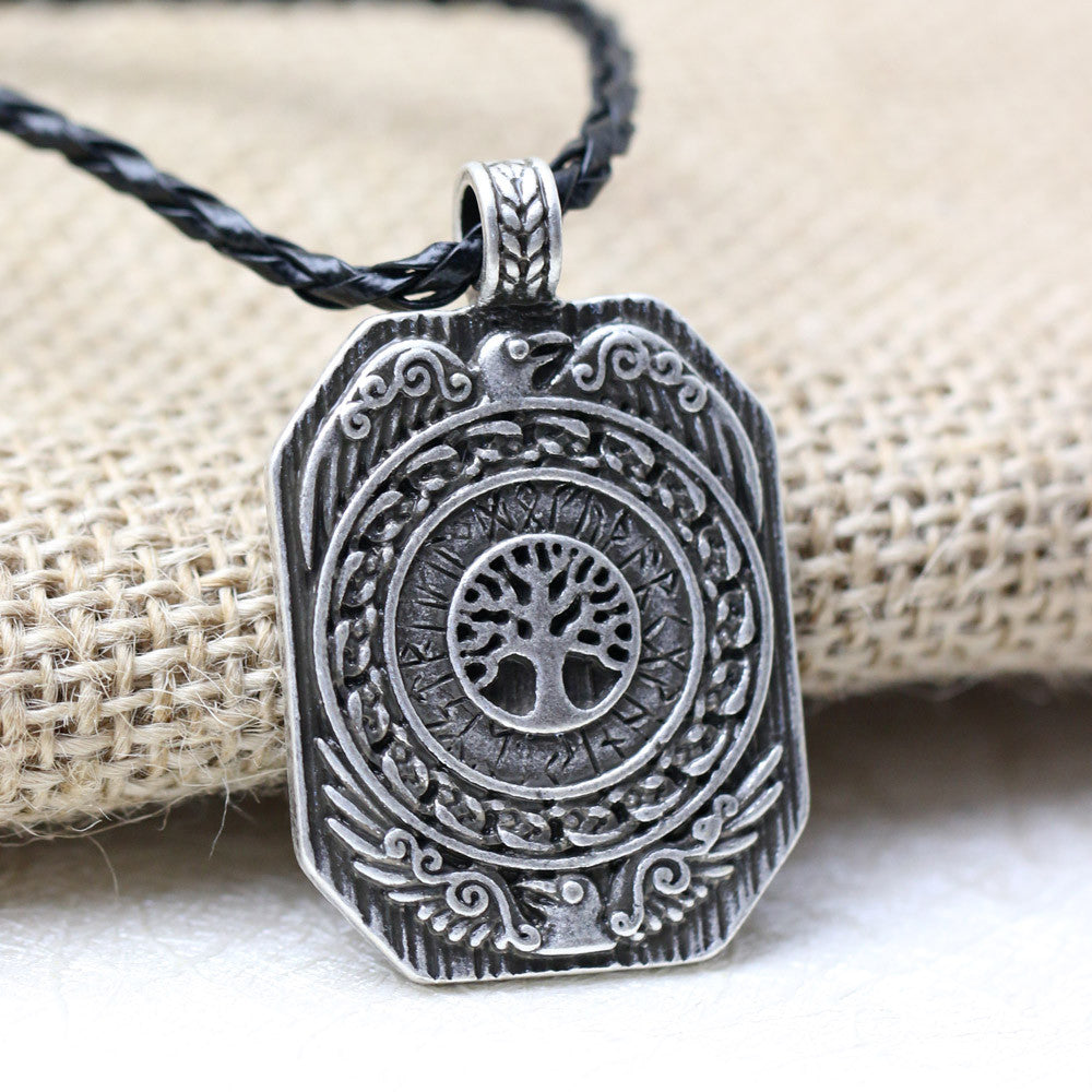 Nordic Talisman Legendary The Daily Tree of Life Runes Vikings Amulet  Necklace