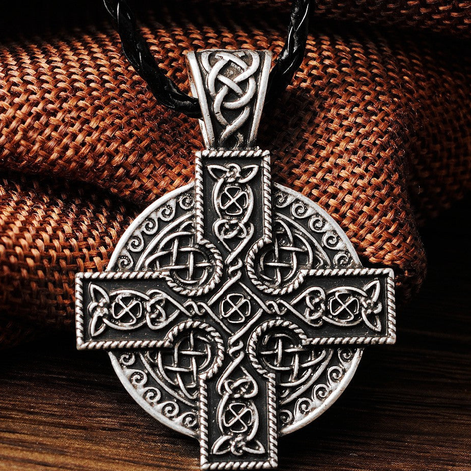 Irish Solar Cross Celtics Druid Amulet Necklace