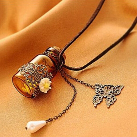 Butterfly Ethnic Drift Bottle Pendant