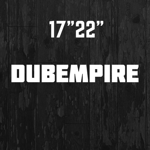 Bold Banner Sticker - Dub Empire