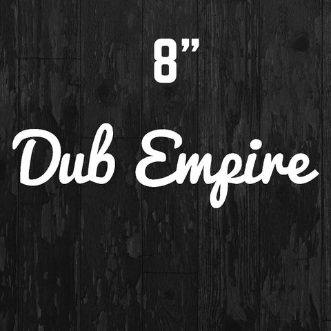 Cursive Sticker - Dub Empire