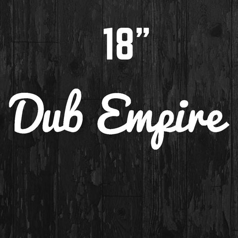 Cursive Banner Sticker - Dub Empire
