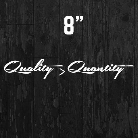 Quality > Quantity Sticker - Dub Empire