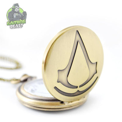 Limited Edition Assassin's Creed Retro Gold Plated Pocket Watch