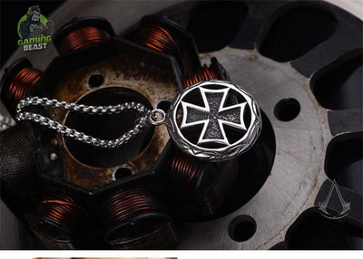 Assassin's Creed Punk Titanium Steel Cross Necklace