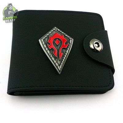 World of Warcraft Alloy Sign Leather Wallet