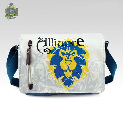 World of Warcraft Sign Canvas Messenger Bag