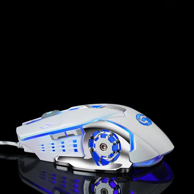 Computer Gaming Metal Mechanical Keyboard Mouse Headset Set