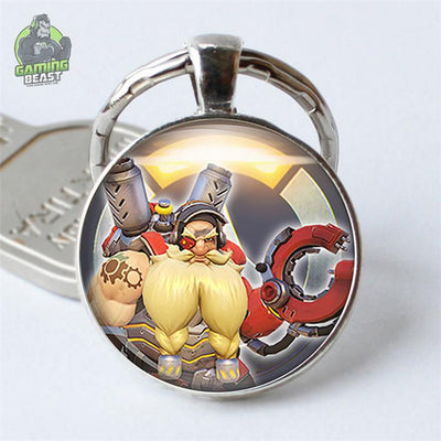 Limited Edition Overwatch Glass Gem Key Ring