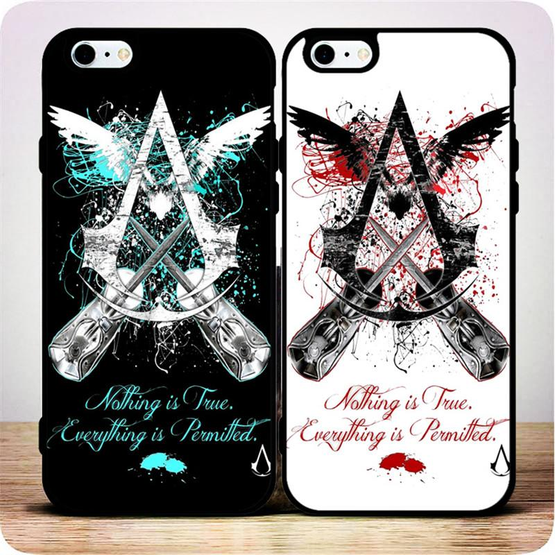 Assassin's Creed Black and White Personality Phone Case for IPhone