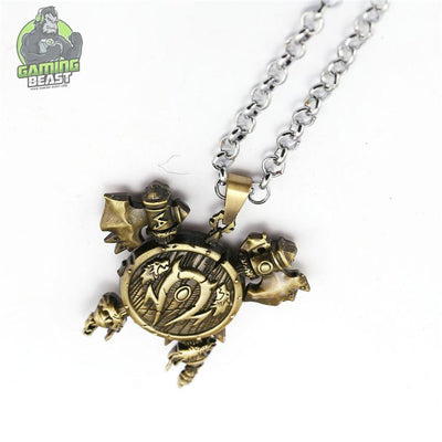 World of Warcraft Orc Undead Horde Sign Necklace