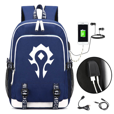 Limited Edition World of Warcraft Creative Printed Canvas Shoulder Backpack