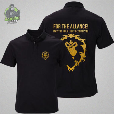 World of Warcraft Tribal League Cotton Polo T-shirt