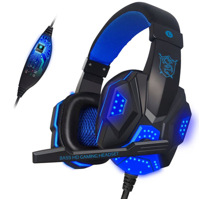 USB Stereo Bass Noise Canceling with Mic LED Light Gaming Headset