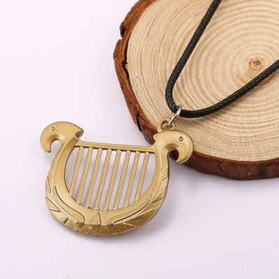 The Legend of Zelda Harp Pendant Alloy Necklace