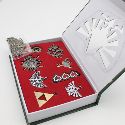 A Set of The Legend of Zelda Alloy Necklace & Key Ring
