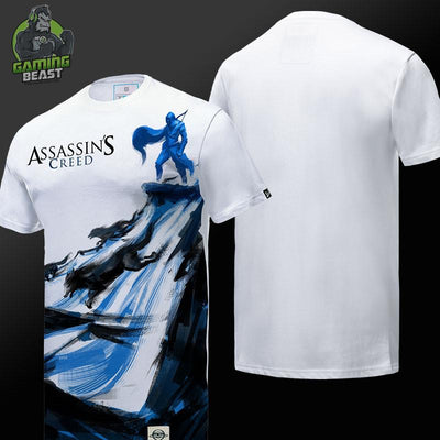 Assassin's Creed Ink Print Cotton T-Shirt