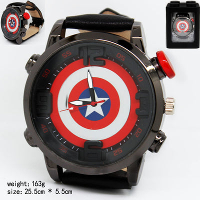 Limited Edition Men's Creative Captain America Casual Fashion Electronic Quartz Watch