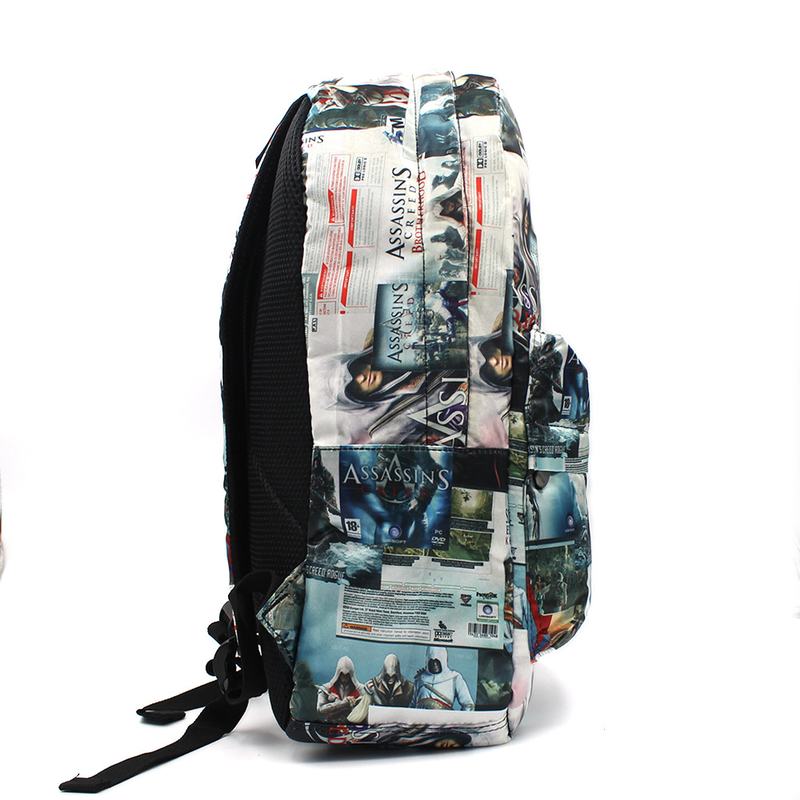 Hip Hop Punk Style Assassin S Creed Anime Backpack Gaming Beast