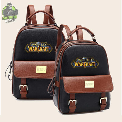 Limited Edition World of Warcraft Leather Casual Backpack