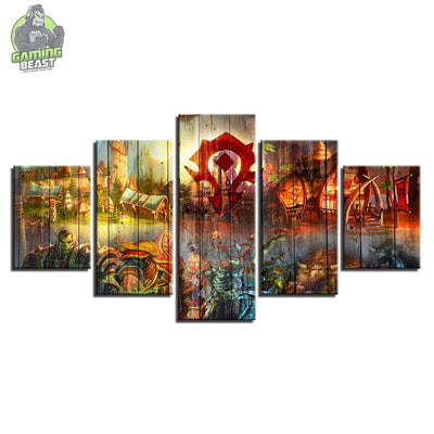 World of Warcraft Abstract Oil HD Background Painted Wallpaper