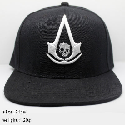 Limited Edition Assassin's Creed Embroidered Canvas Black Creative Casual Baseball Cap