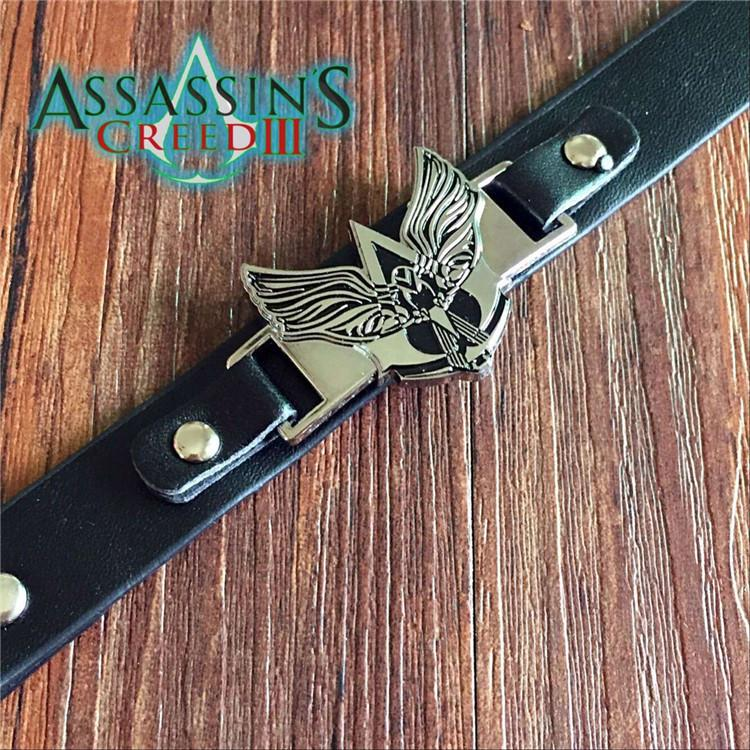 Assassin's Creed Alloy Leather Bracelet