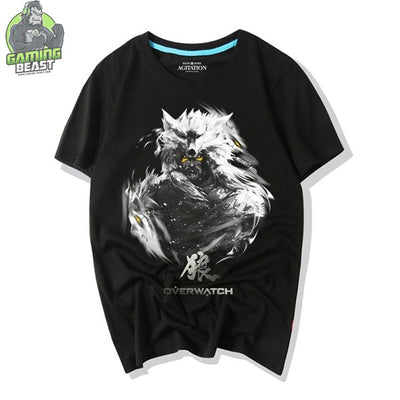 Overwatch Game Tribal Pattern Hanzo T-Shirt