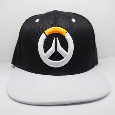 Limited Edition OverWatch Embroidered Canvas Black and White Color Mixing Creative Casual Baseball Cap