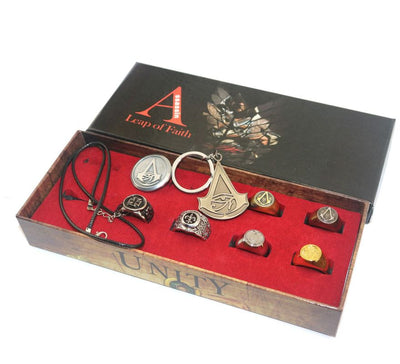 Limited Edition Assassin's Creed Origins Necklace Ring Role Playing Jewelry Set