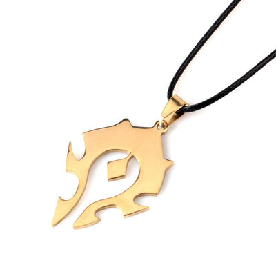 The Limited Edition World of Warcraft Sign Gold Plated Necklace