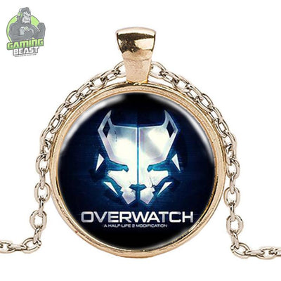 Limited Edition Overwatch Glass Gemstone Necklace
