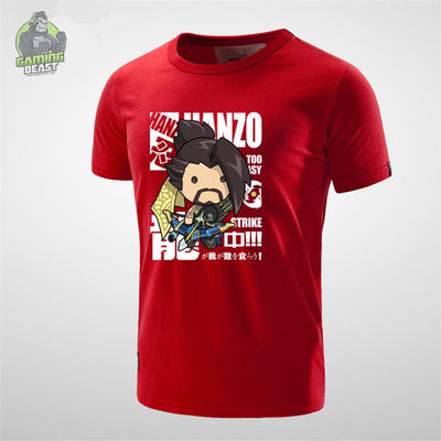 Limited Edition Overwatch Cotton HANZO LUCLO Printed T-shirt