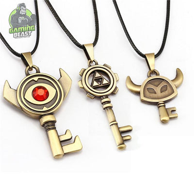 Limited Edition Legend of Zelda Key Pattern Alloy Pendant
