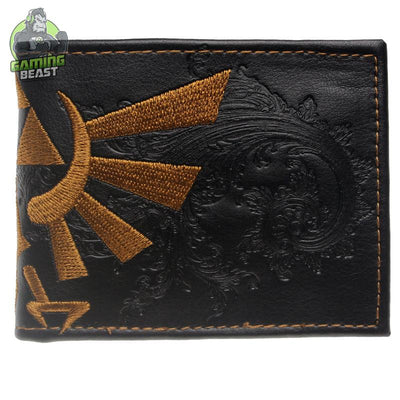 The Legend of Zelda Men Leather Embroidery Short Wallet