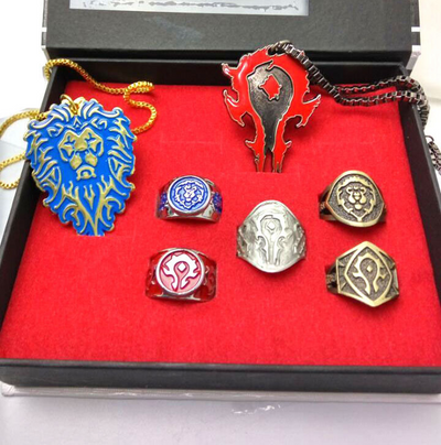 Limited Edition World of Warcraft Tribal Ring Necklace Jewelry Set