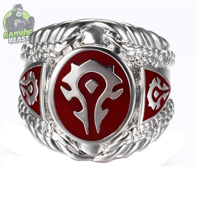 World of Warcraft Tribal Signs Titanium Steel Ring