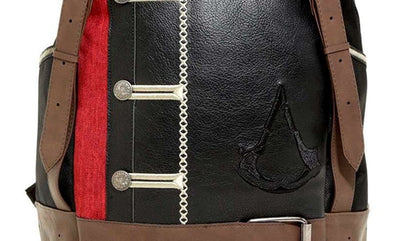 Men's Fashion Backpack Assassin's Creed Origin Embroidered Pu Leather Backpack