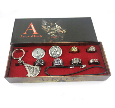 Limited Edition Assassin's Creed Origins Brooch Key Ring Set of Nine
