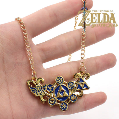 Limited Edition Legend of Zelda Sign 18K Gold Pendant Necklace
